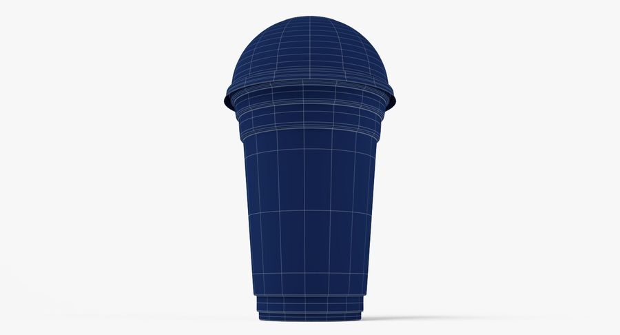Smoothie Plastic Cup royalty-free 3d model - Preview no. 9