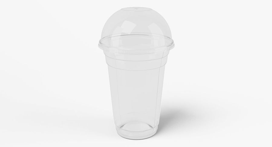 Smoothie Plastic Cup royalty-free 3d model - Preview no. 3