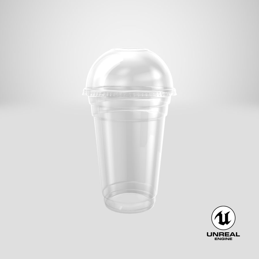 Smoothie Plastic Cup royalty-free 3d model - Preview no. 17