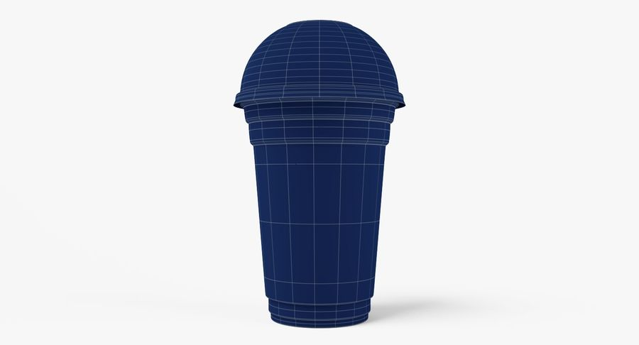 Smoothie Plastic Cup royalty-free 3d model - Preview no. 10