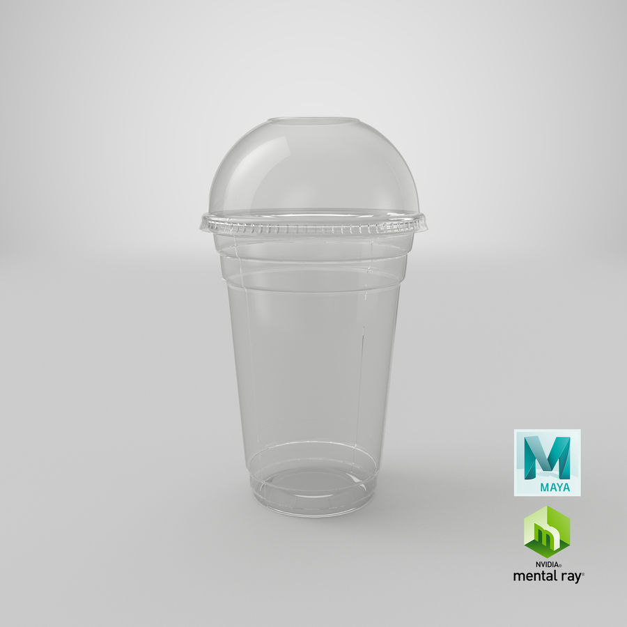 Smoothie Plastic Cup royalty-free 3d model - Preview no. 22