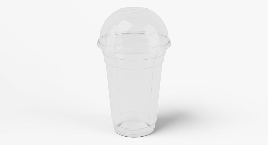 Smoothie Plastic Cup royalty-free 3d model - Preview no. 2