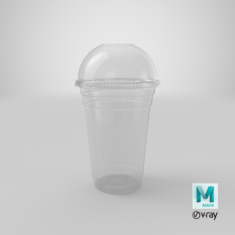 Smoothie Plastic Cup royalty-free 3d model - Preview no. 23