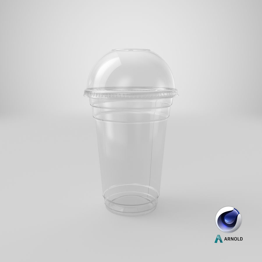 Smoothie Plastic Cup royalty-free 3d model - Preview no. 15