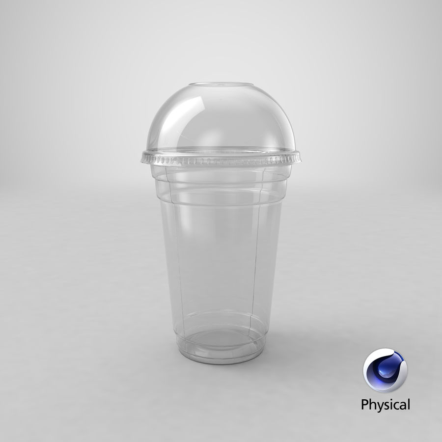 Smoothie Plastic Cup royalty-free 3d model - Preview no. 14