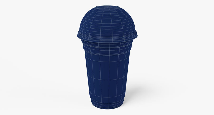 Smoothie Plastic Cup royalty-free 3d model - Preview no. 8