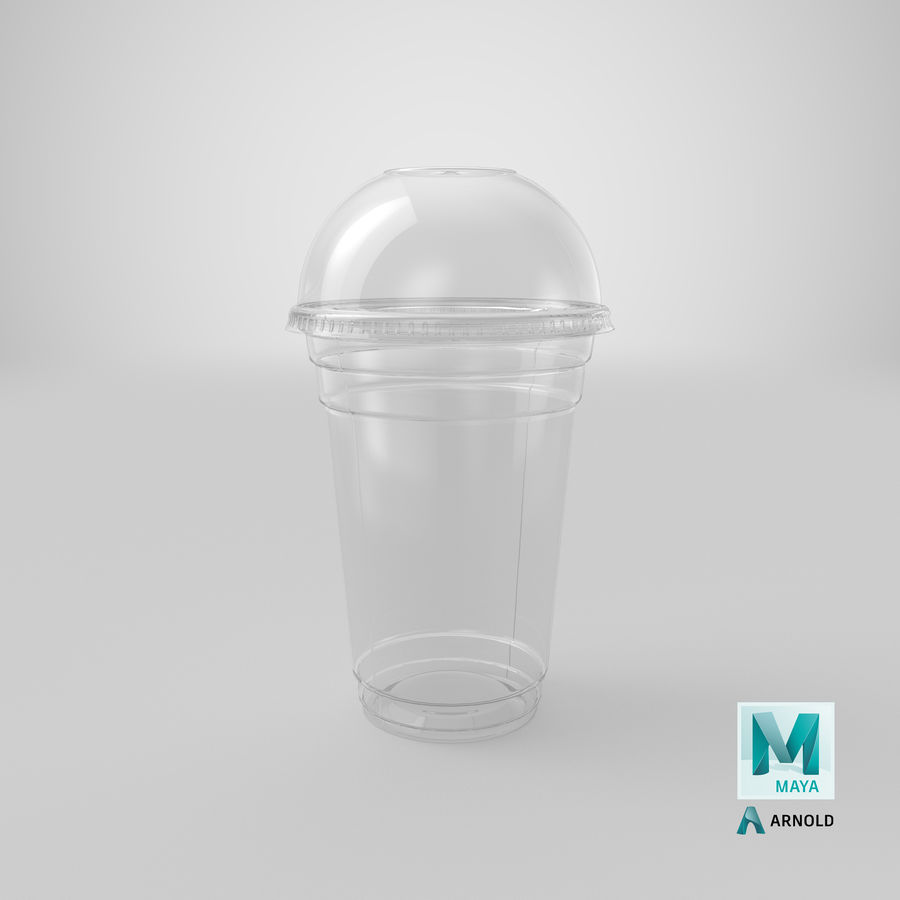 Smoothie Plastic Cup royalty-free 3d model - Preview no. 21