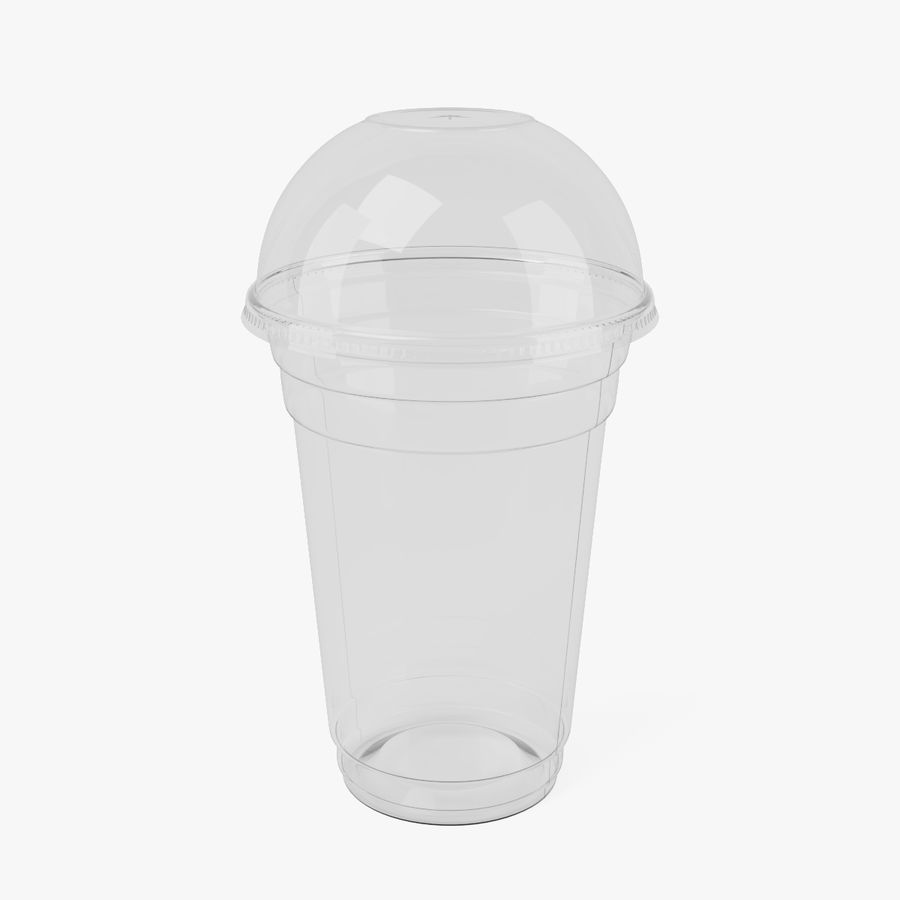 Smoothie Plastic Cup royalty-free 3d model - Preview no. 1