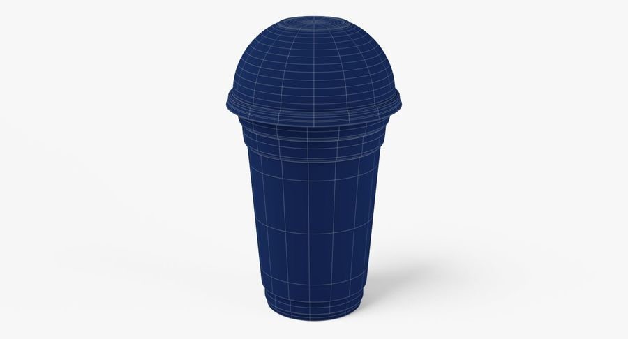 Smoothie Plastic Cup royalty-free 3d model - Preview no. 7