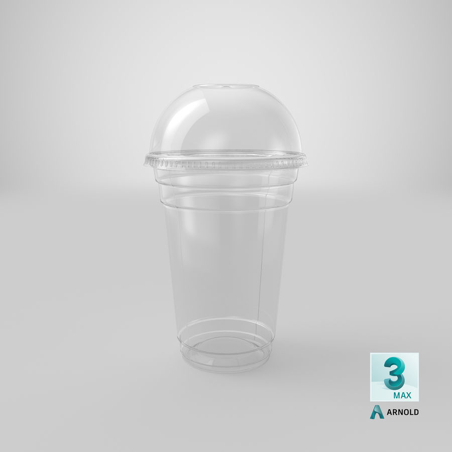 Smoothie Plastic Cup royalty-free 3d model - Preview no. 18