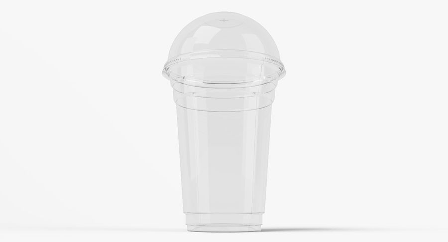 Smoothie Plastic Cup royalty-free 3d model - Preview no. 4