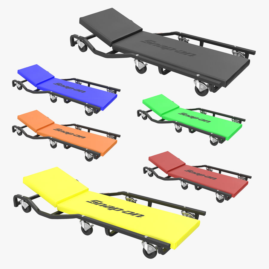 Car creepers Collection royalty-free 3d model - Preview no. 1