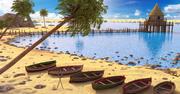 Cabin Beach miljö 3d model