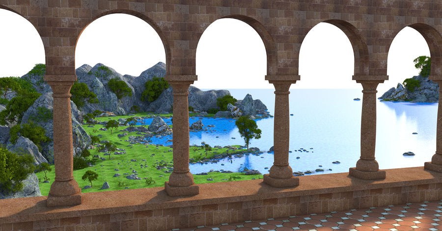 Environnement de paysage classique royalty-free 3d model - Preview no. 2