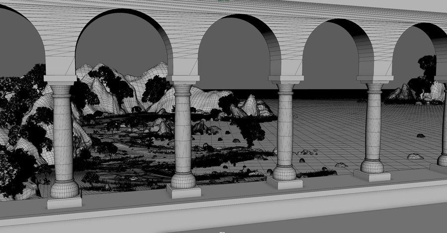 Environnement de paysage classique royalty-free 3d model - Preview no. 3