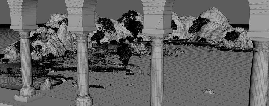 Environnement de paysage classique royalty-free 3d model - Preview no. 13