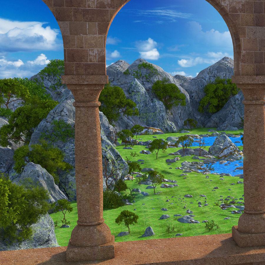 Environnement de paysage classique royalty-free 3d model - Preview no. 8