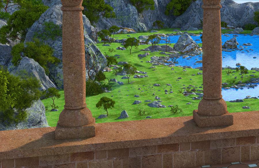 Environnement de paysage classique royalty-free 3d model - Preview no. 4
