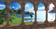 Classic Landscape Environment 3d model