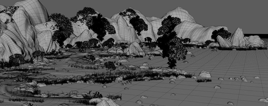 Environnement de paysage classique royalty-free 3d model - Preview no. 17