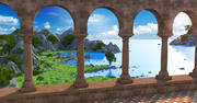 Klasyczne środowisko krajobrazowe 3d model