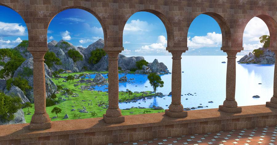 Environnement de paysage classique royalty-free 3d model - Preview no. 1