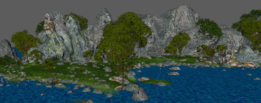 Environnement de paysage classique royalty-free 3d model - Preview no. 18