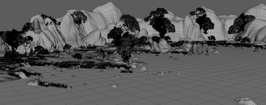 Environnement de paysage classique royalty-free 3d model - Preview no. 15