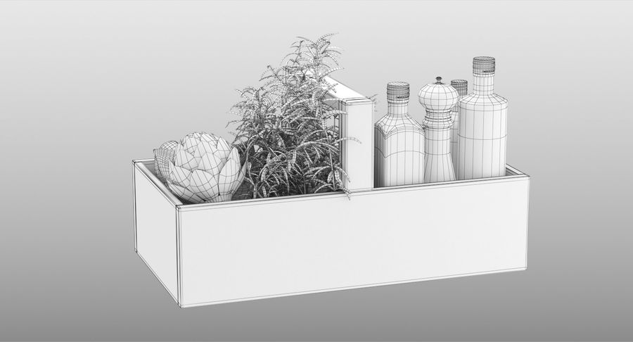 Kitchen Accessories royalty-free 3d model - Preview no. 16