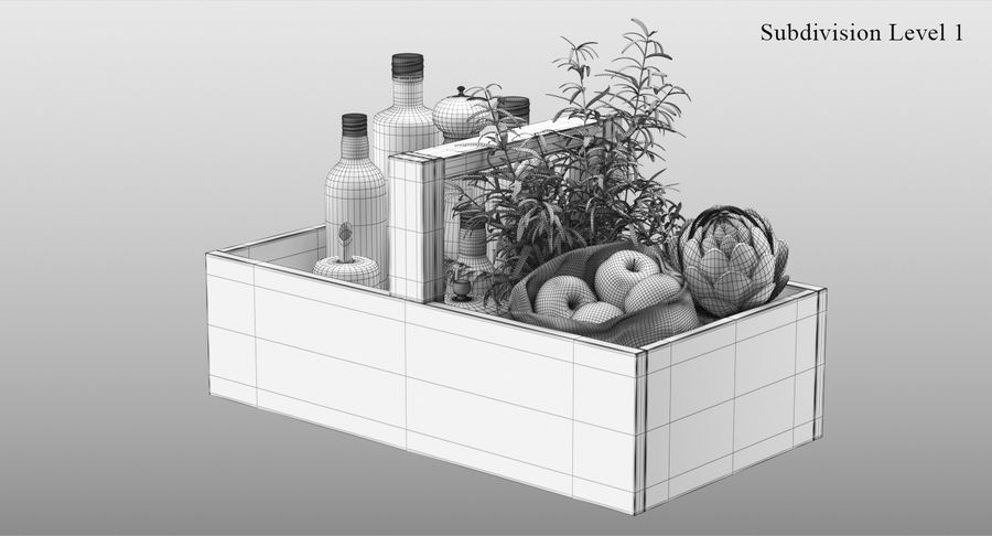 Kitchen Accessories royalty-free 3d model - Preview no. 11
