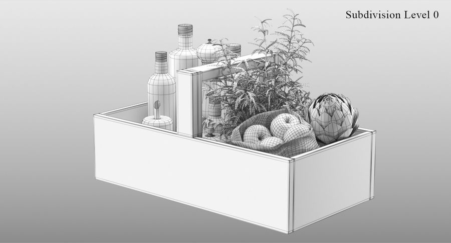 Kitchen Accessories royalty-free 3d model - Preview no. 10