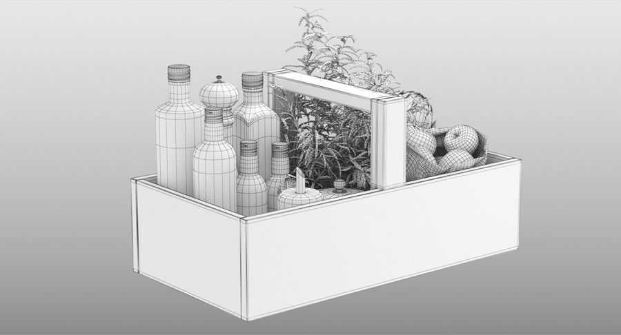 Kitchen Accessories royalty-free 3d model - Preview no. 14