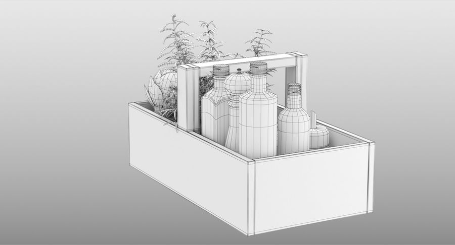 Kitchen Accessories royalty-free 3d model - Preview no. 15