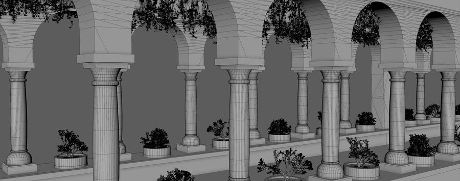Classic Fantasy Hall royalty-free 3d model - Preview no. 9