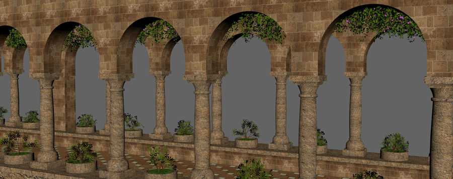 Classic Fantasy Hall royalty-free 3d model - Preview no. 16