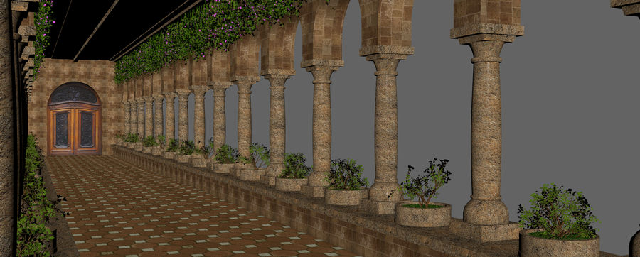 Classic Fantasy Hall royalty-free 3d model - Preview no. 12