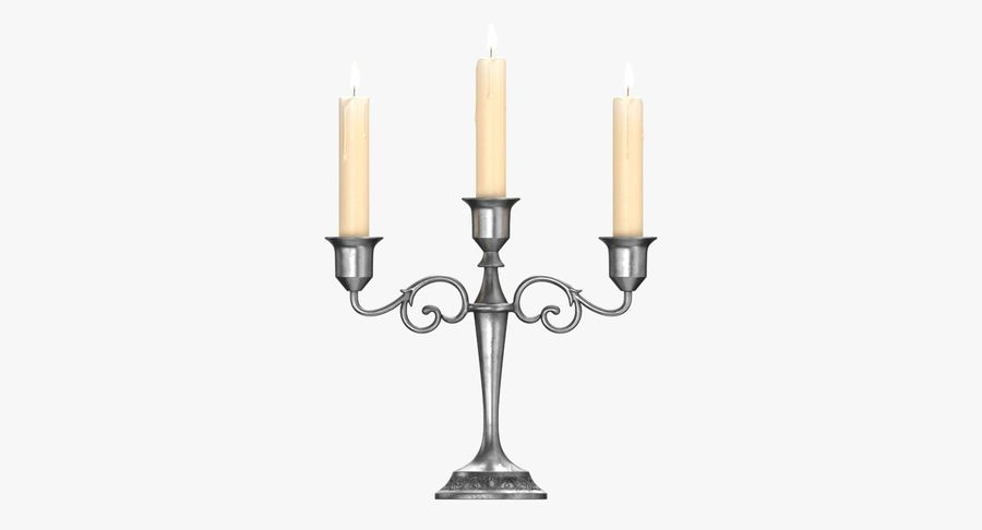 Candlestick with Candles royalty-free 3d model - Preview no. 4