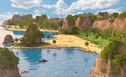 Thailand Seascape miljö 3d model