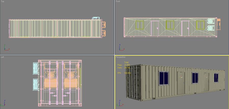 货柜舱4 royalty-free 3d model - Preview no. 19