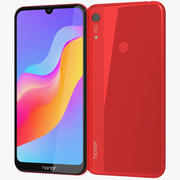Honor 8A Red 3d model