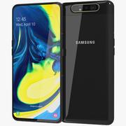Samsung Galaxy A80 Phantom Black (Animated) 3d model