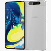 Samsung Galaxy A80 Ghost White (Animated) 3d model