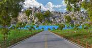 Lake Road Landscape 3d model