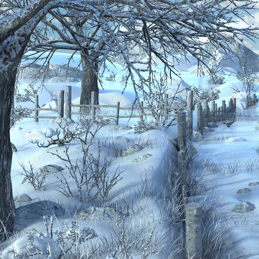 Snow House Environment royalty-free 3d model - Preview no. 8