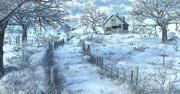 Snow House Environment 3d model