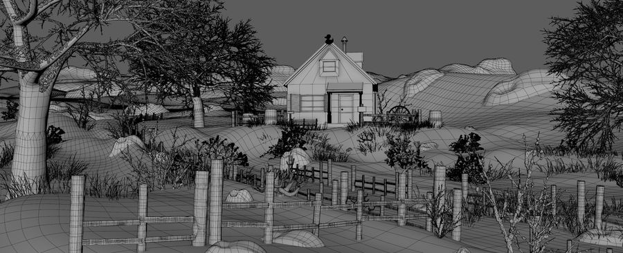Snow House Environment royalty-free 3d model - Preview no. 18