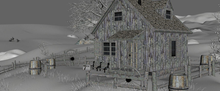 Snow House Environment royalty-free 3d model - Preview no. 15