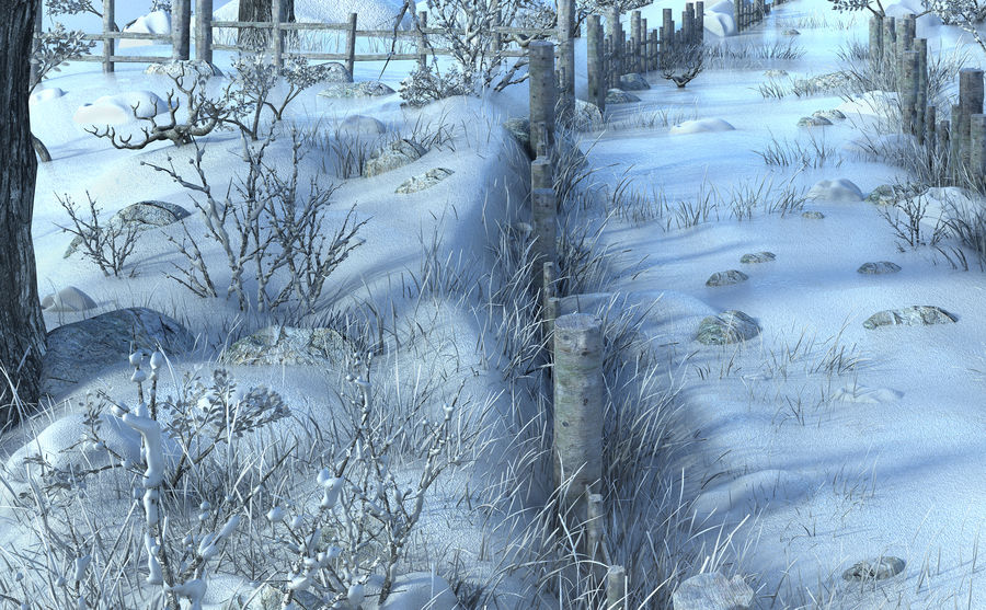 Snow House Environment royalty-free 3d model - Preview no. 4
