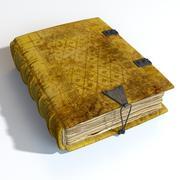 中世纪书 3d model