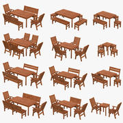 Garden furniture pack 3d model